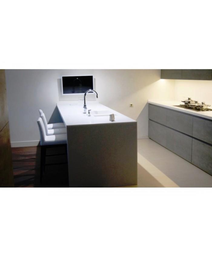 Столешницы из Акрила с кухонным островом Белого цвета
