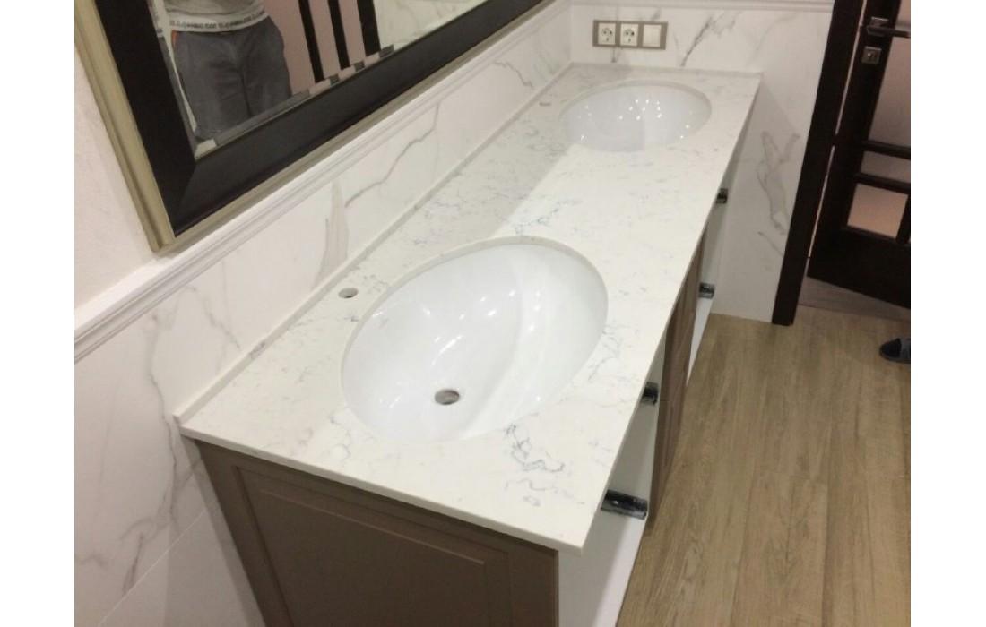 Столешница в ванную из Кварца