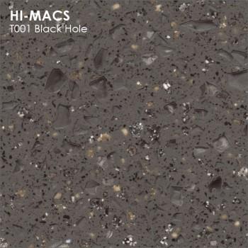 Образец искусственного камня от производителя LG HI-MACS Galaxy коллекцияT001 BLACK HOLE..