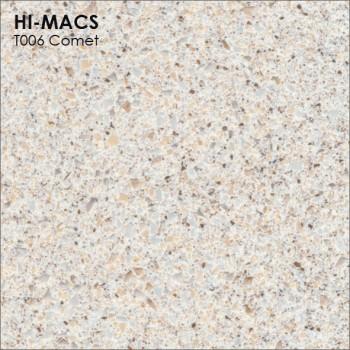 Образец искусственного камня от производителя LG HI-MACS Galaxy коллекцияT006 COMET..