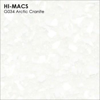 Образец искусственного камня от производителя LG HI-MACS Granite коллекцияG034 ARCTIC GRANITE..