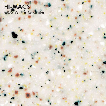 Образец искусственного камня от производителя LG HI-MACS Granite коллекцияG05 WHITE GRANITE..