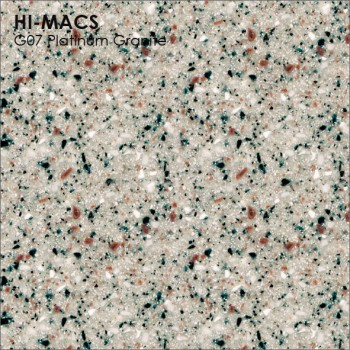 Образец искусственного камня от производителя LG HI-MACS Granite коллекцияG07 PLATINUM GRANITE..
