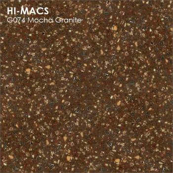 Образец искусственного камня от производителя LG HI-MACS Granite коллекцияG074 MOCHA GRANITE..