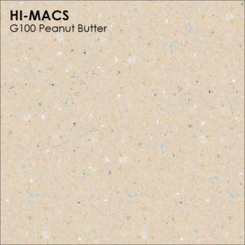 Образец искусственного камня от производителя LG HI-MACS Granite коллекцияG100 PEANUT BUTTER..