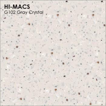 Образец искусственного камня от производителя LG HI-MACS Granite коллекцияG102 GRAY CRYSTAL..