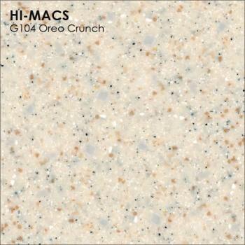 Образец искусственного камня от производителя LG HI-MACS Granite коллекцияG104 OREO CRUNCH..