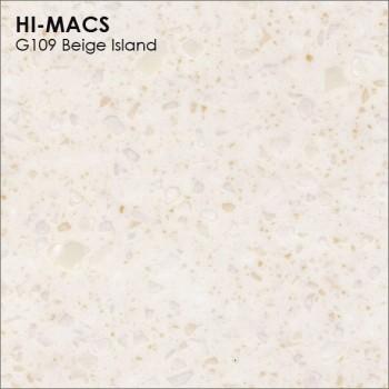 Образец искусственного камня от производителя LG HI-MACS Granite коллекцияG109 BEIGE ISLAND..