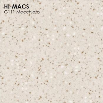 Образец искусственного камня от производителя LG HI-MACS Granite коллекцияG111 MACCHIATO..