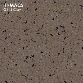 Образец искусственного камня от производителя LG HI-MACS Granite коллекцияG114 CLAY..