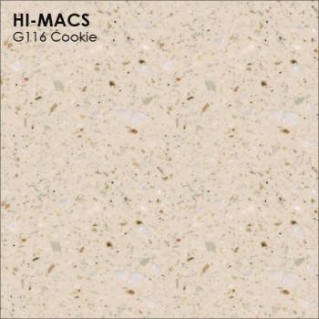 Образец искусственного камня от производителя LG HI-MACS Granite коллекцияG116 COOKIE..