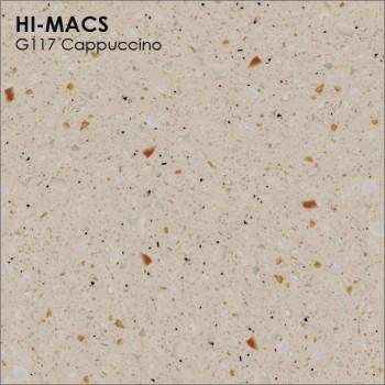 Образец искусственного камня от производителя LG HI-MACS Granite коллекцияG117 CAPPUCCINO..