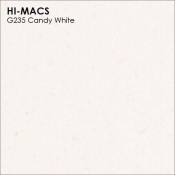 Образец искусственного камня от производителя LG HI-MACS Granite коллекцияG235 CANDY WHITE..