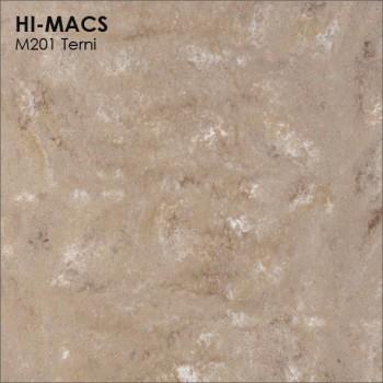 Образец искусственного камня от производителя LG HI-MACS Marmo коллекцияM201 TERNI..