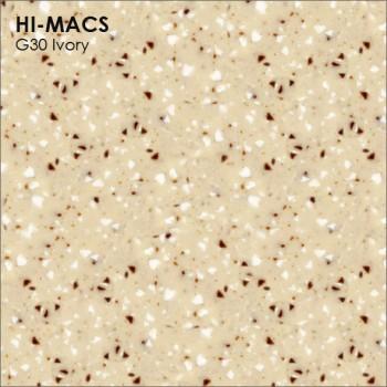 Образец искусственного камня от производителя LG HI-MACS Quartz коллекцияG30 IVORY..
