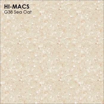 Образец искусственного камня от производителя LG HI-MACS Quartz коллекцияG38 SEA OAT..