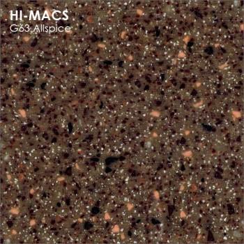Образец искусственного камня от производителя LG HI-MACS Quartz коллекцияG63 ALLSPICE..