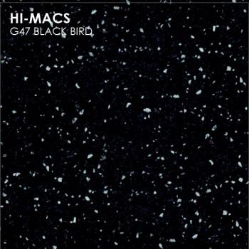 Образец искусственного камня от производителя LG HI-MACS Sand коллекцияG47 BLACK BIRD..