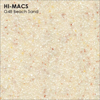 Образец искусственного камня от производителя LG HI-MACS Sand коллекцияG48 BEACH SAND..