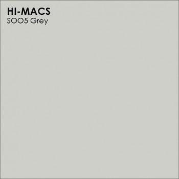 Образец искусственного камня от производителя LG HI-MACS Solid коллекцияS005 GREY..