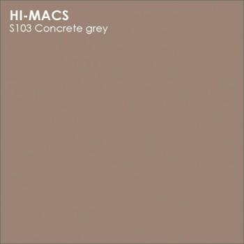 Образец искусственного камня от производителя LG HI-MACS Solid коллекцияS103 CONCRETE GREY..