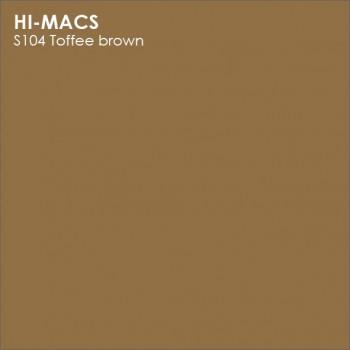 Образец искусственного камня от производителя LG HI-MACS Solid коллекцияS104 TOFFEE BROWN..