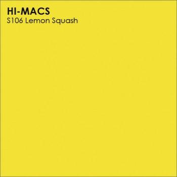 Образец искусственного камня от производителя LG HI-MACS Solid коллекцияS106 LEMON SQUASH..