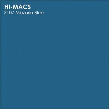 Образец искусственного камня от производителя LG HI-MACS Solid коллекцияS107 MAZARIN BLUE..