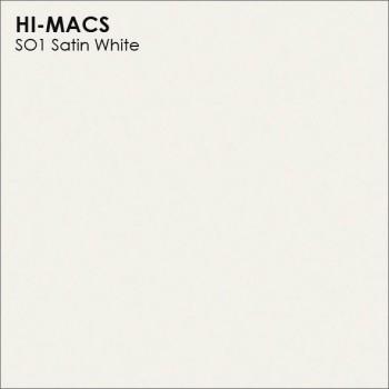 Образец искусственного камня от производителя LG HI-MACS Solid коллекцияS01 SATIN WHITE..