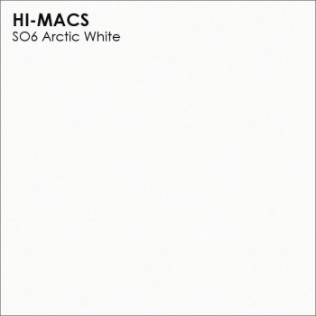 Образец искусственного камня от производителя LG HI-MACS Solid коллекцияS06 ARCTIC WHITE..