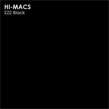 Образец искусственного камня от производителя LG HI-MACS Solid коллекцияS22 BLACK..