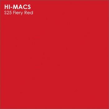 Образец искусственного камня от производителя LG HI-MACS Solid коллекцияS25 FIERY RED..