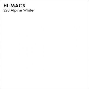 Образец искусственного камня от производителя LG HI-MACS Solid коллекцияS28 ALPINE WHITE..