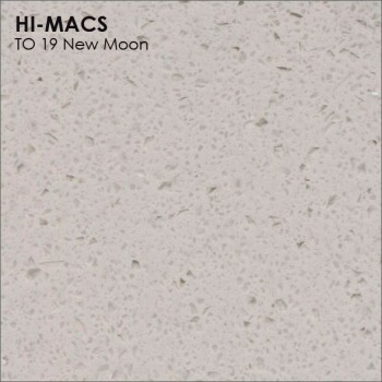 Образец искусственного камня от производителя LG HI-MACS Volcanics коллекцияT019 NEW MOON..