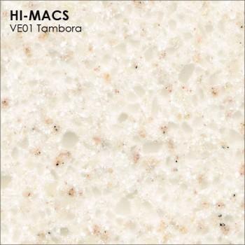 Образец искусственного камня от производителя LG HI-MACS Volcanics коллекцияVE01 TAMBORA..