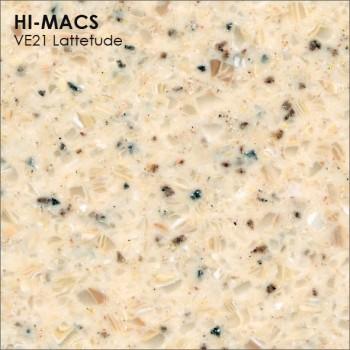 Образец искусственного камня от производителя LG HI-MACS Volcanics коллекцияVE21 LATTETUDE..