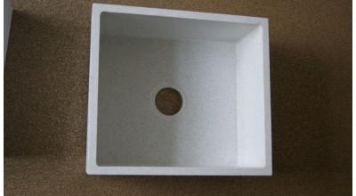 Мойка из кварца прямоугольная с скруглеными углами